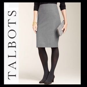 TALBOTS Petites Classic Wool Pencil Skirt